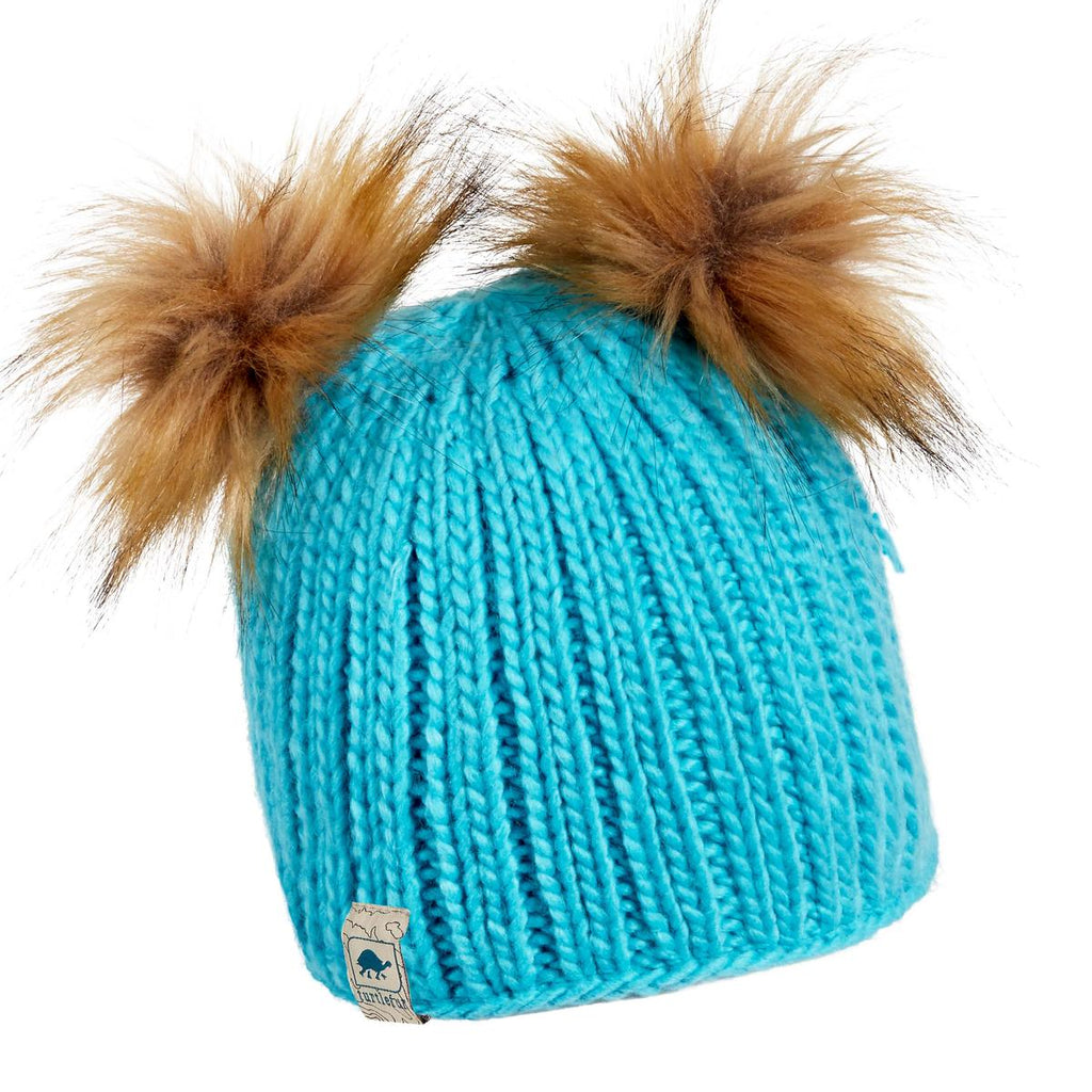 Kids Puff Balls Pom Pom / Color-Turquoise