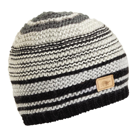 Moth Hand Knit Beanie / Color - Black