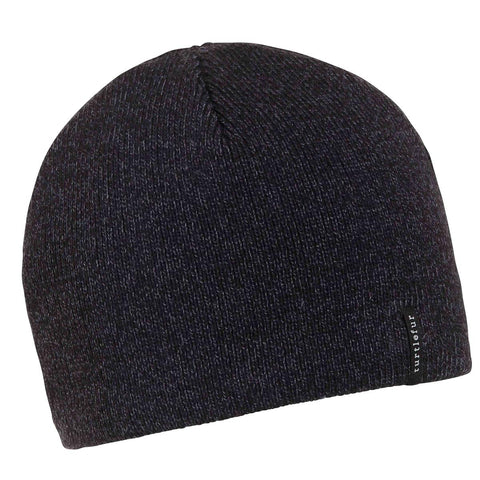 N.E. Solid Ragg Beanie / Color-Black Heather
