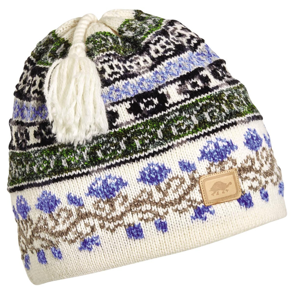 Lady Fairisle Tassel Beanie / Color-White