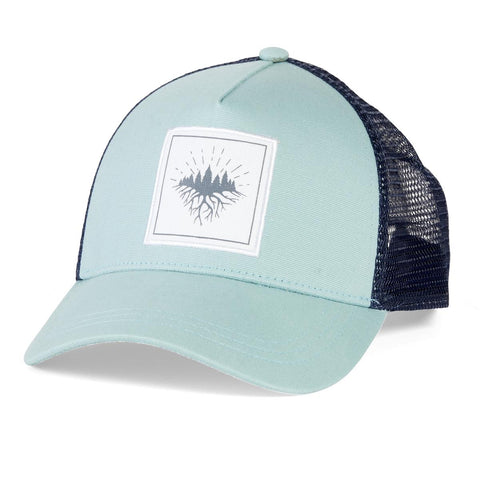 Roots Run Deep Trucker / Color-Light Turquoise