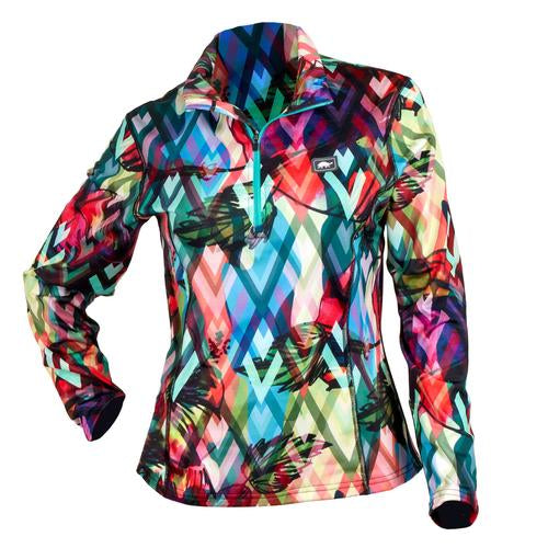 Women's Comfort Shell Kira High Energy 1/4 Zip / Color-Sneak A Peak