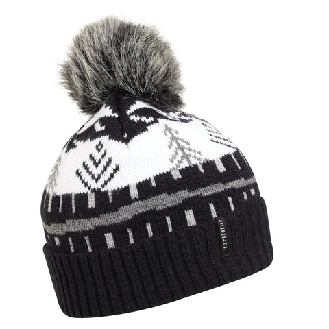 Woods Walk Pom Beanie / Color-Black
