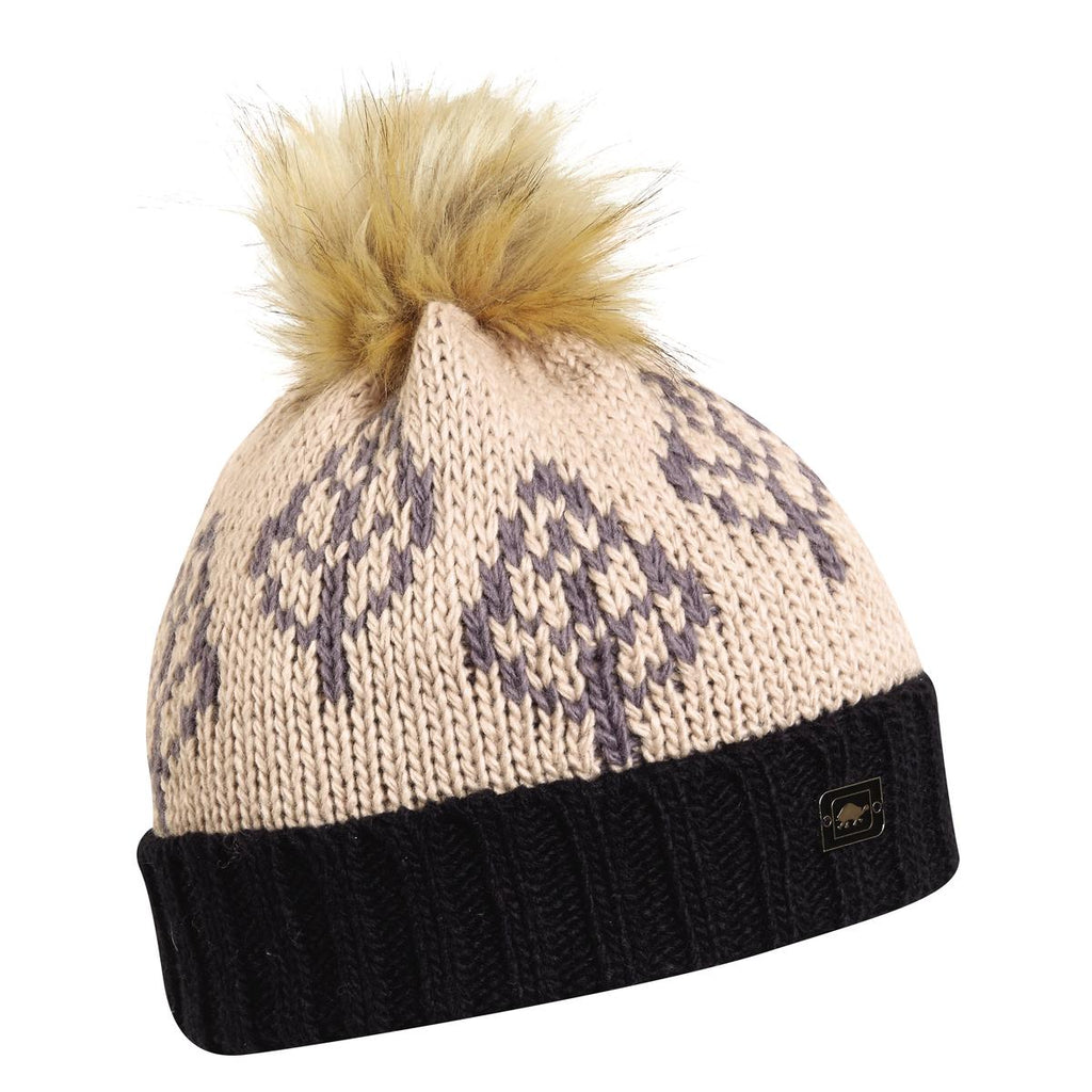 Lizza Pom Beanie / Color-Black