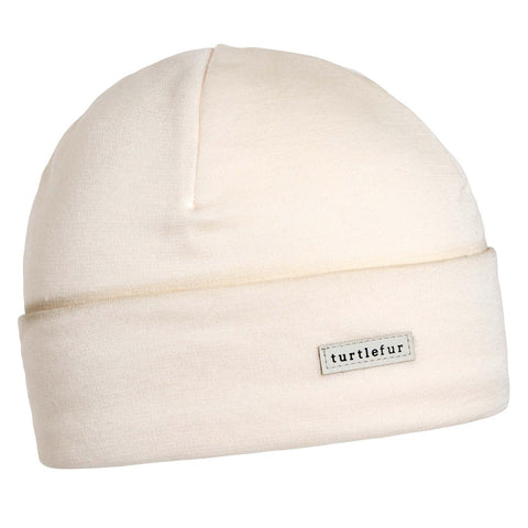 Merino Wool with Tencel Watch Cap / Color-Ivory