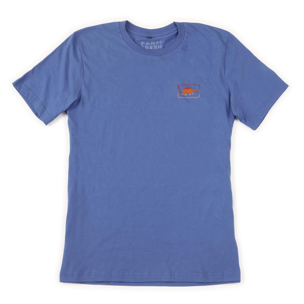 Men's Sunset Turtle T-Shirt / Color - Blue Steel