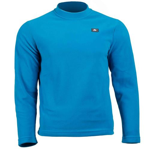 Men's Micro Fur Fleece Base Camp High Energy Crew / Color-Blues for Breakfast