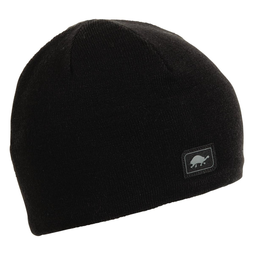Solid Knit Merino Wool Beanie / Color-Black