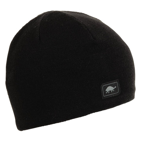 Solid Knit Merino Wool Beanie / Color - Black