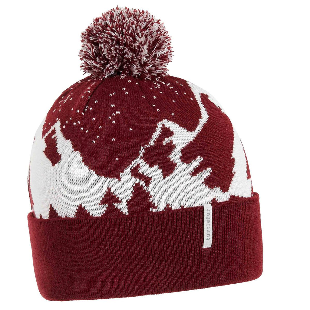 Snow Mountain Pom / Color-Maroon