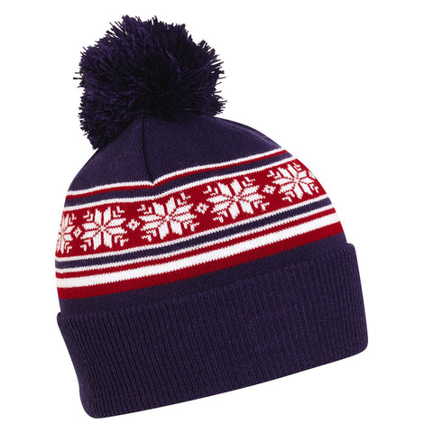 Patriotic Snow Pom / Color-Blue