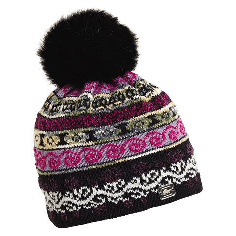 HRH Lady Fairisle Beanie / Color-Black