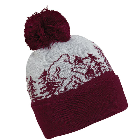Kids Great State Pom Beanies / Color-Big Foot