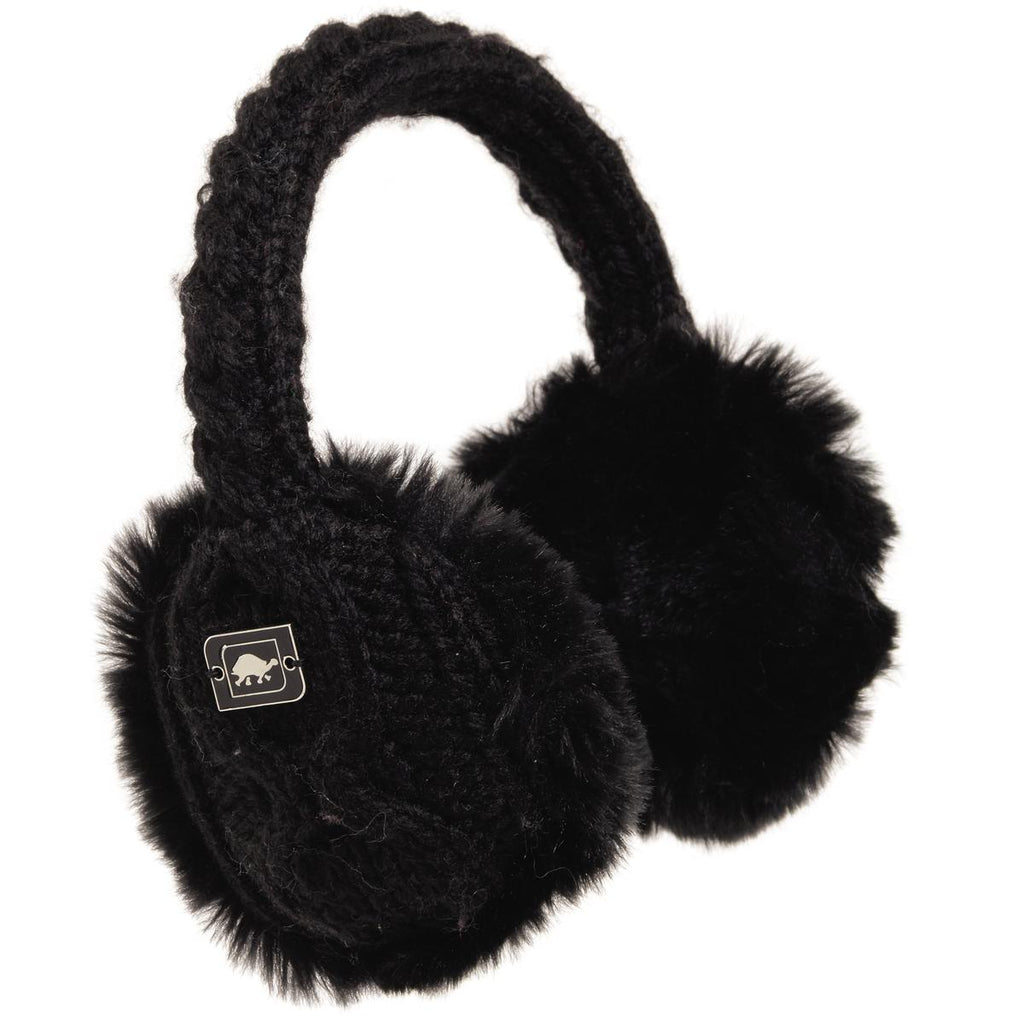Ear Muffin Faux Fur Lined Earmuffs / Color-Black