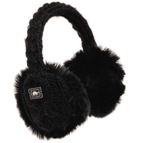 Ear Muffin Faux Fur Lined Earmuffs / Color - Black