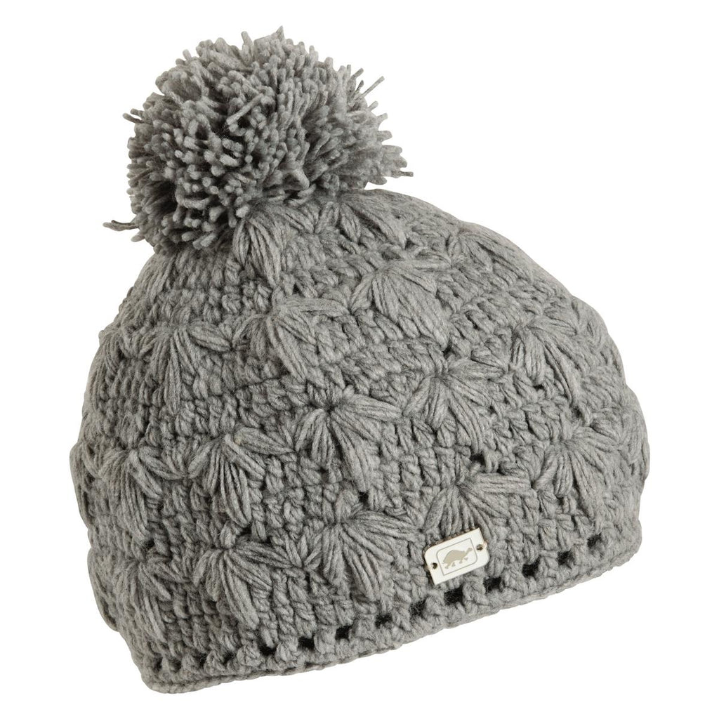 Rhoda Fleece Lined Pom Beanie / Color-Charcoal