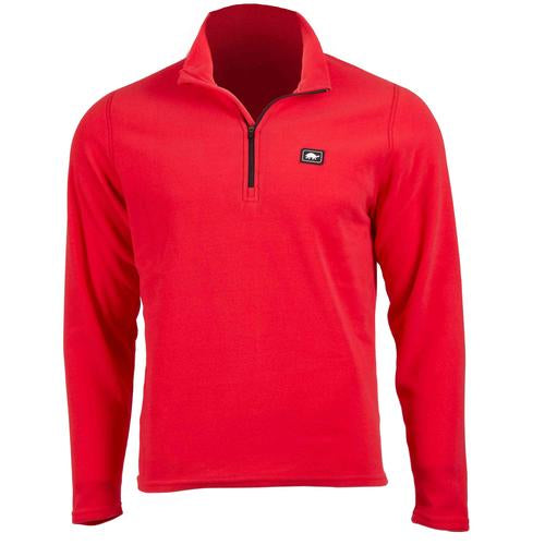 Men's Micro Fur Fleece Carapace 1/4 Zip / Color-Red Hot