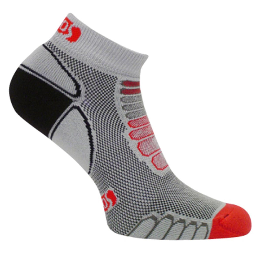 Ultra Lightweight Sprint Silver Low-Cut Ankle Sock / Color-Gray