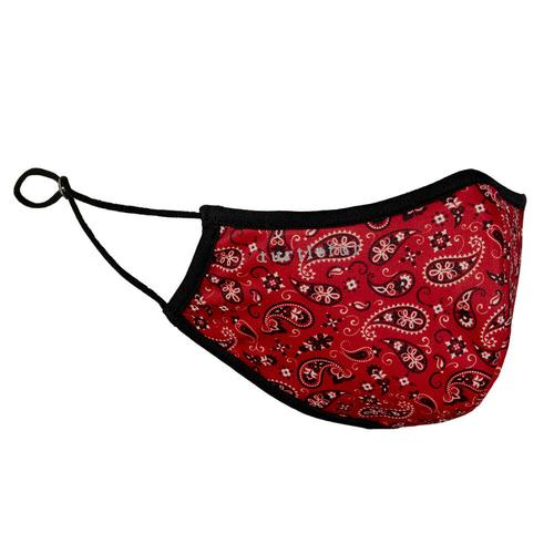 Everyday Face Mask Prints / Color-Red Bandana