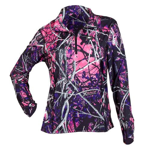 Women's Comfort Shell Kira High Energy 1/4 Zip / Color-Moonshine Camo Muddy Girl