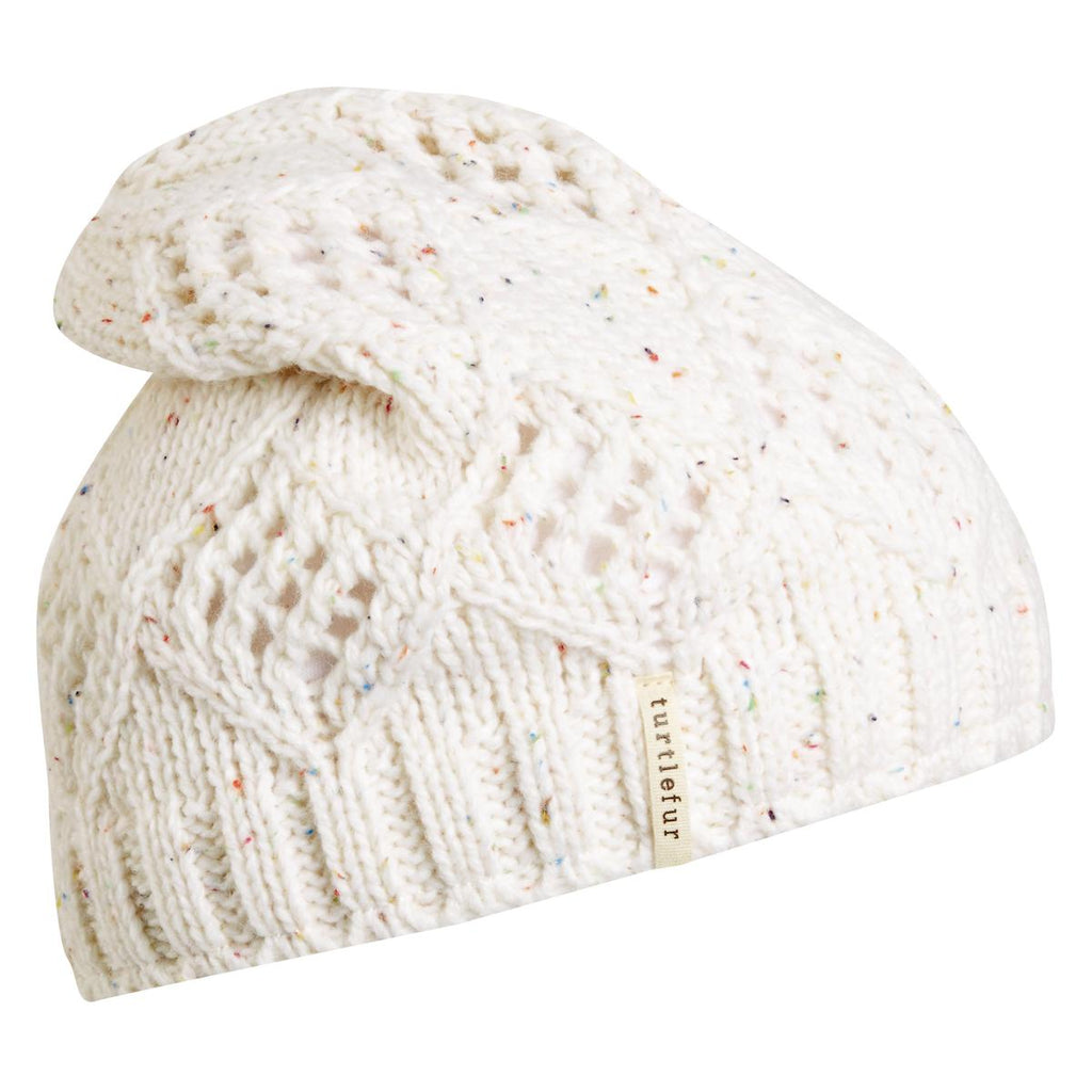 Tiger Tail Slouchy Beanie / Color-White