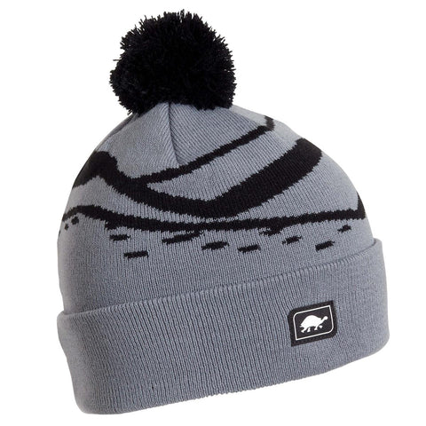 Kids Mountain Stripes Pom / Color-Gray