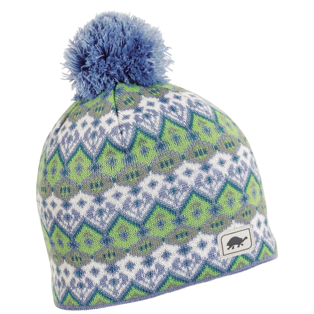 Fluffy Pants Pom Beanie / Color-Bluet