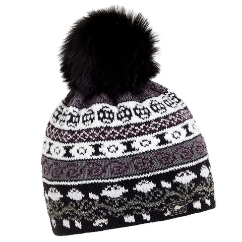 HRH Lady Fairisle Beanie / Color-Onyx