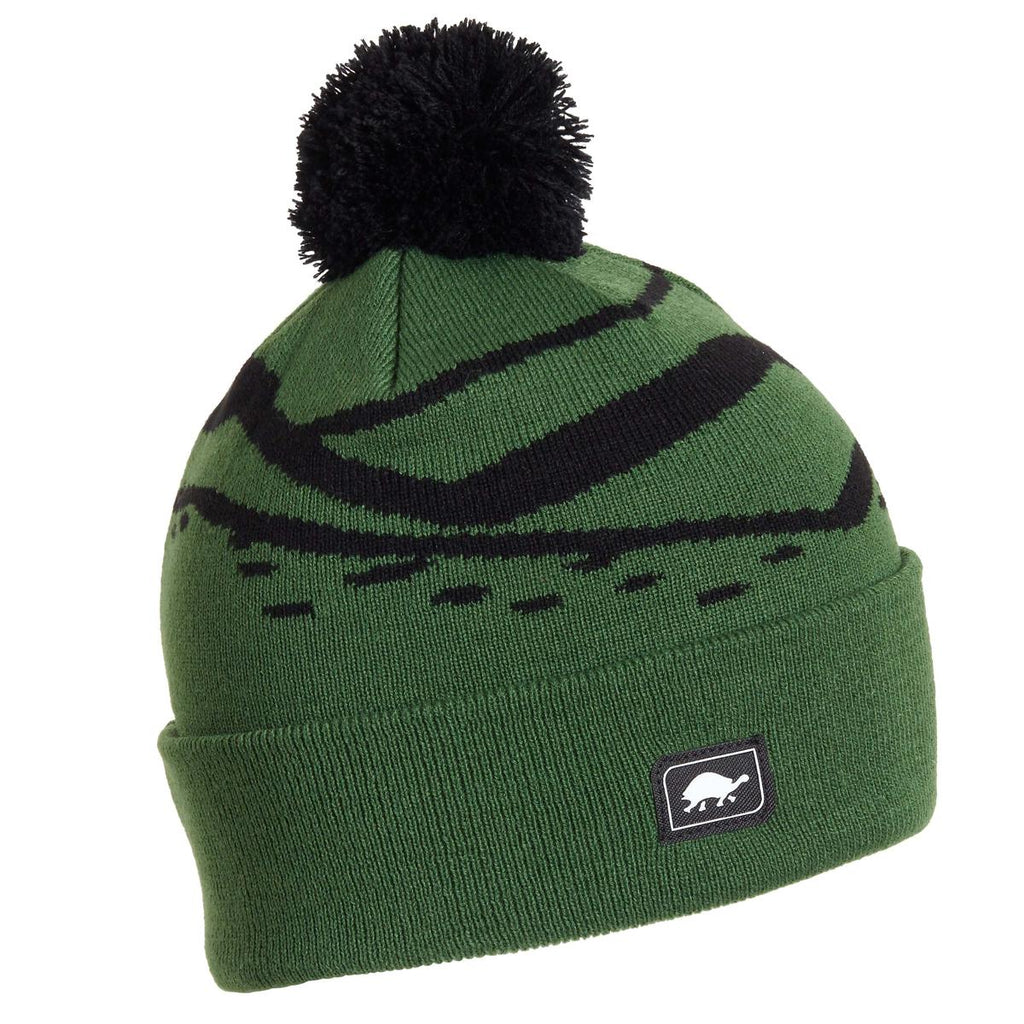 Kids Mountain Stripes Pom / Color-Green