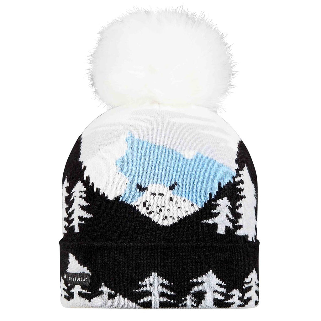 Peeking Yeti Faux Fur Pom / Color-Black