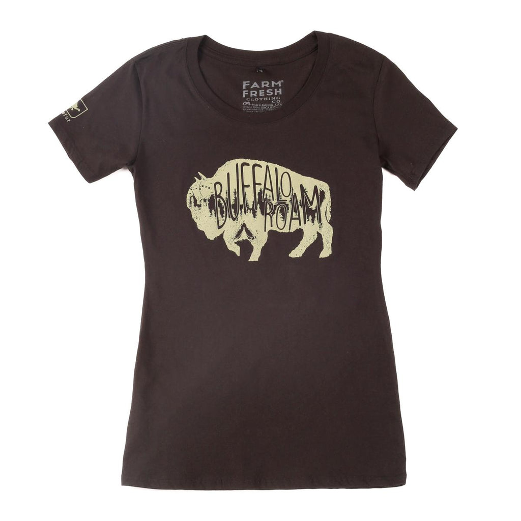Women's Buffalo Roam T-Shirt / Color-Dark Gray