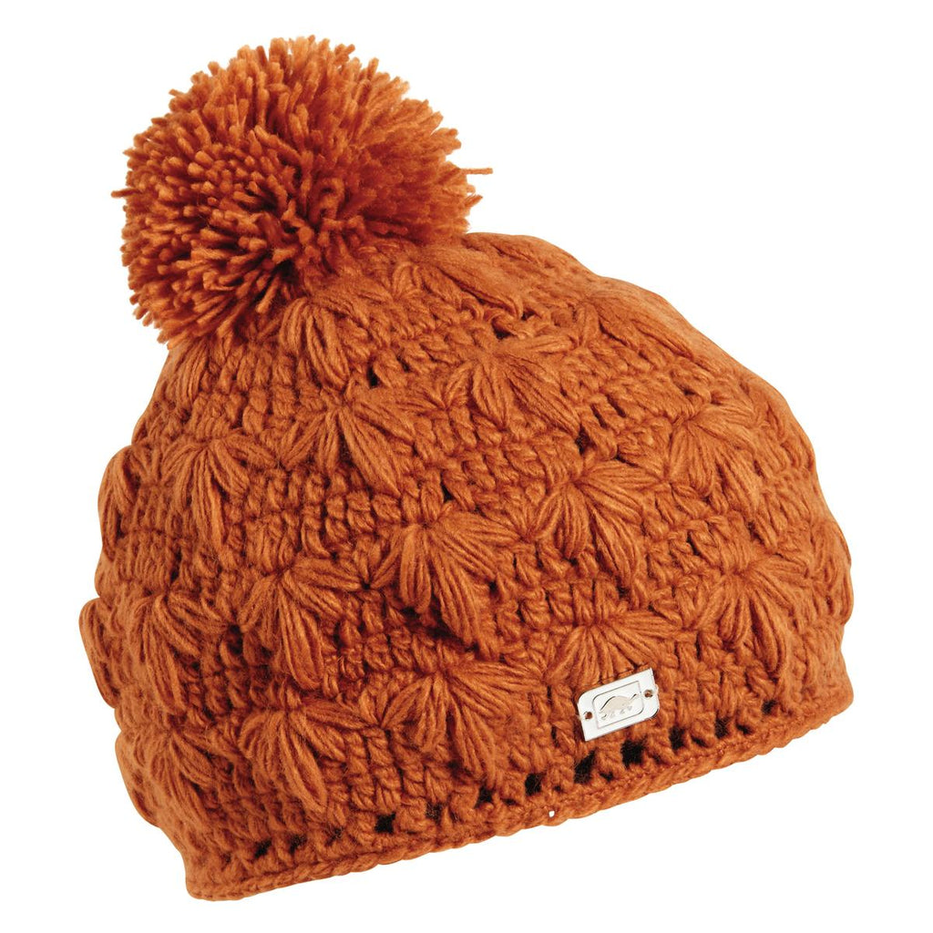 Rhoda Fleece Lined Pom Beanie / Color-Burnt Orange