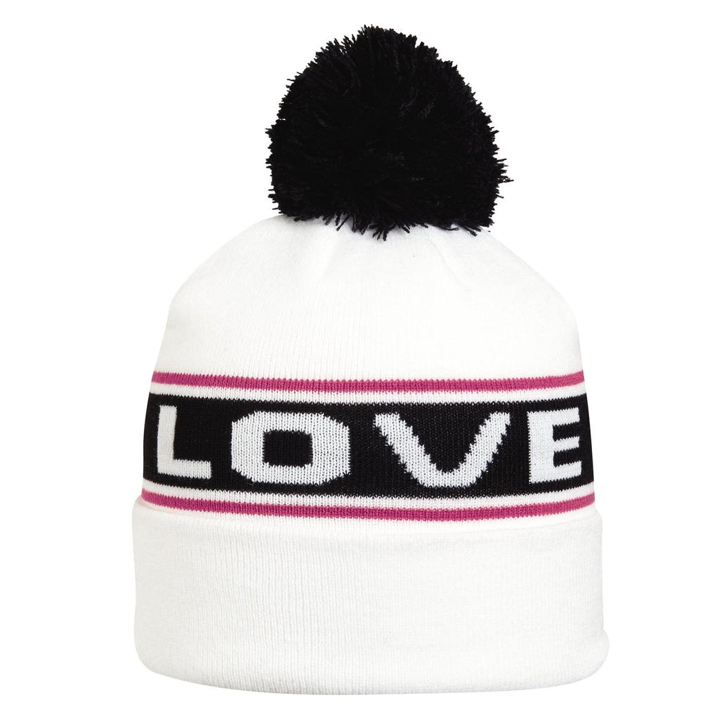 Little Bitta Pom Beanie / Color-White