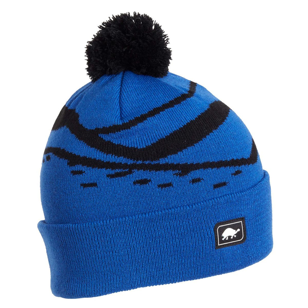Kids Mountain Stripes Pom / Color-Royal