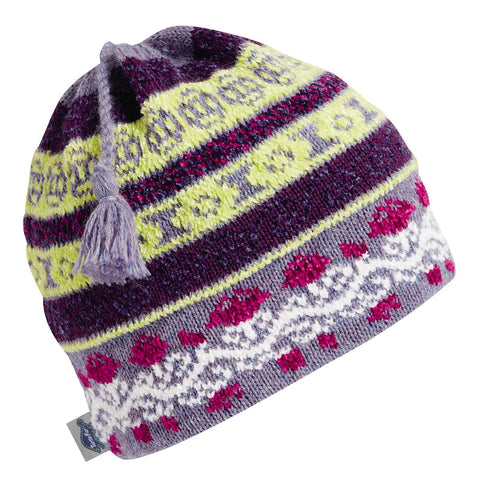 Lady Fairisle Tassel Beanie / Color - Columbine Heather