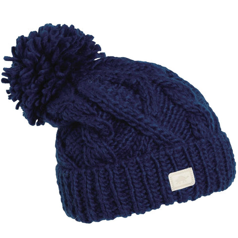 Sugar Bowl Hand Knit Beanie / Color-Midnight