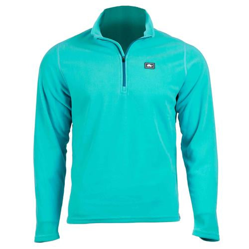 Men's Micro Fur Fleece Carapace 1/4 Zip / Color-Teal Spin