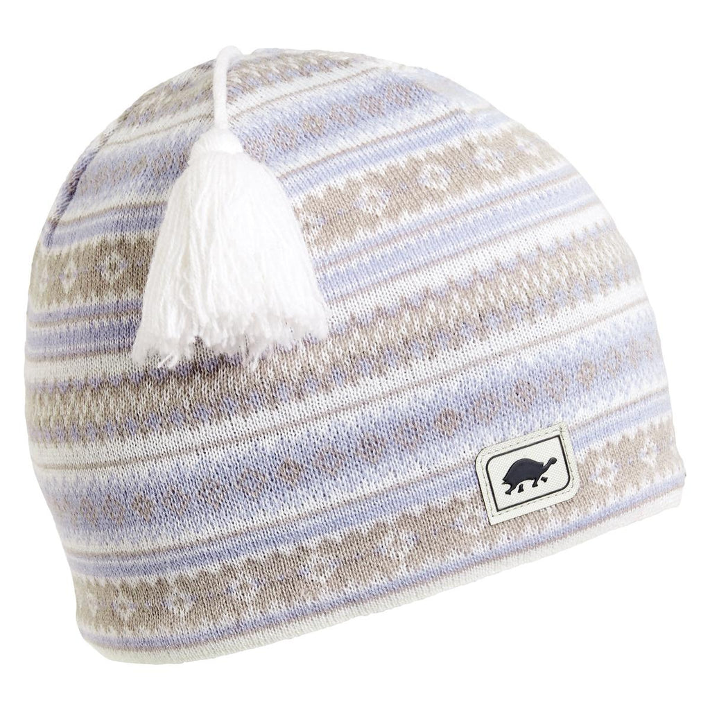 Lift Line Merino Wool Tassel Beanie / Color-Pale Morning