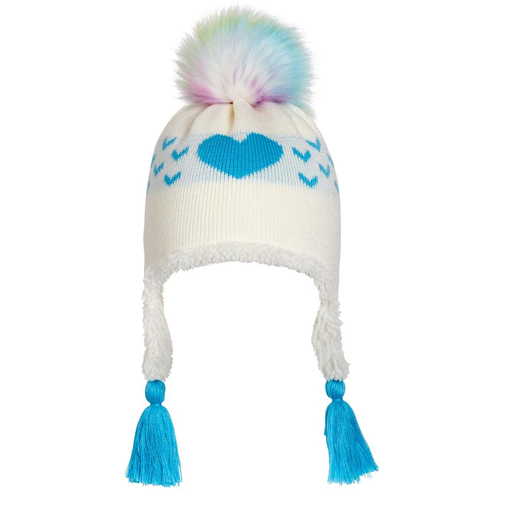 Toddler Sophie Faux Fur Pom / Color-Turquoise