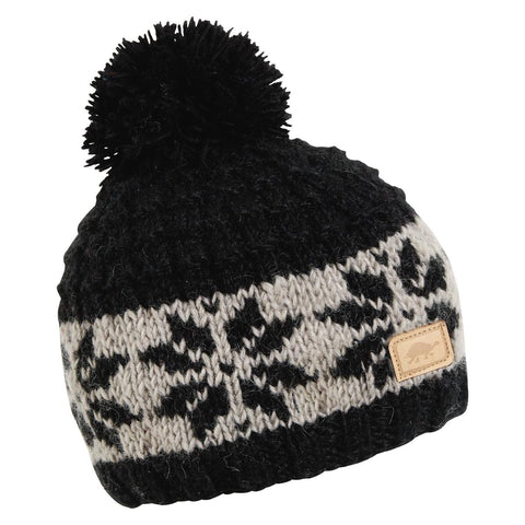 Mani Hand Knit Beanie / Color-Black