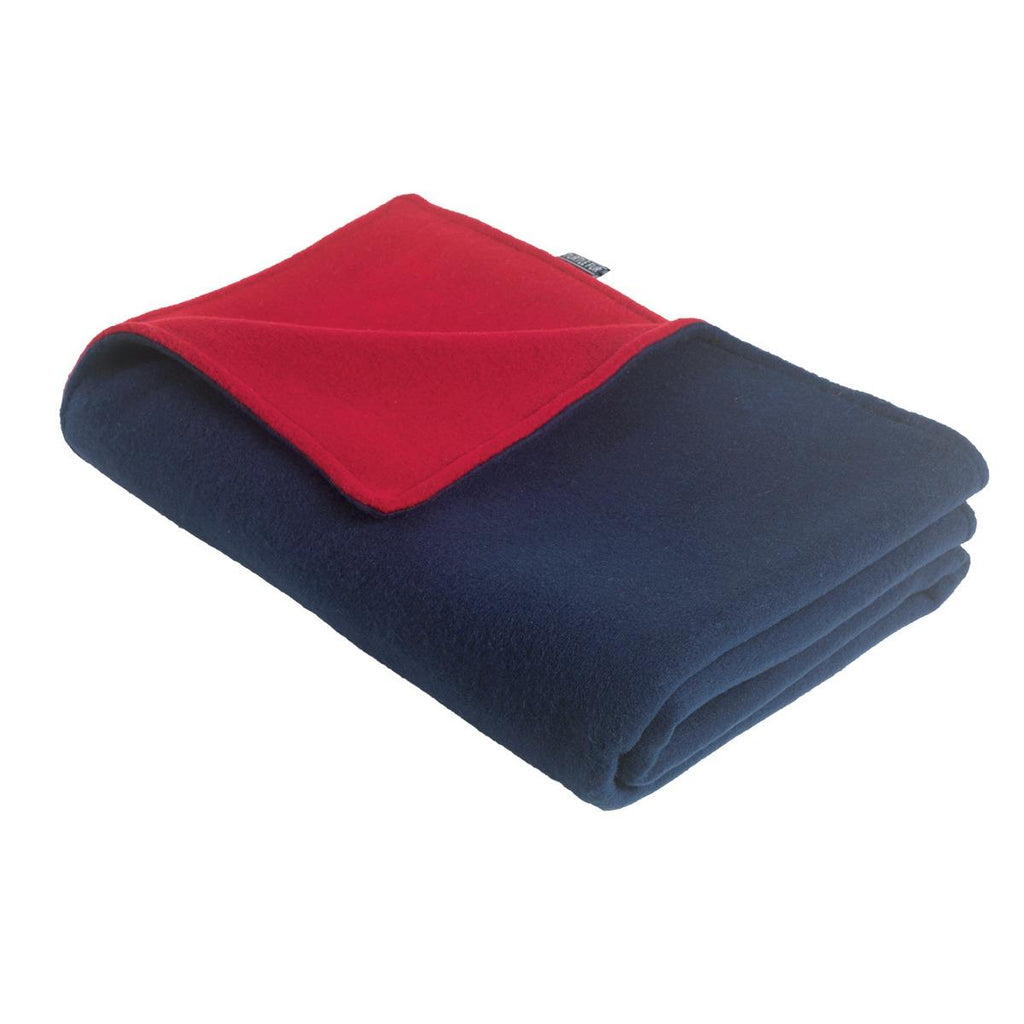 Original Turtle Fur Fleece Baby Security Blanket / Color-Navy/Red
