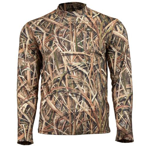 Men's Comfort Shell Lite Camo Active Performance Tops / Color-Base Layer - Mossy Oak Shadow Grass Blades
