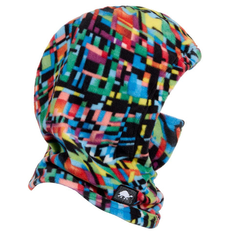 Kids Playful Prints Fleece Under Cover Overhood / Color-Rainbow Plaid
