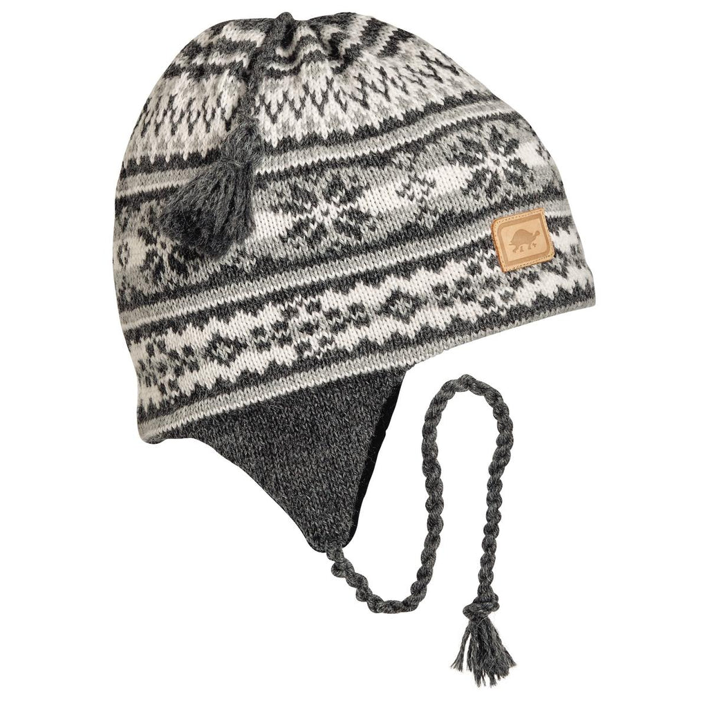 Nighthorse Earflap Hat / Color - Charcoal Heather