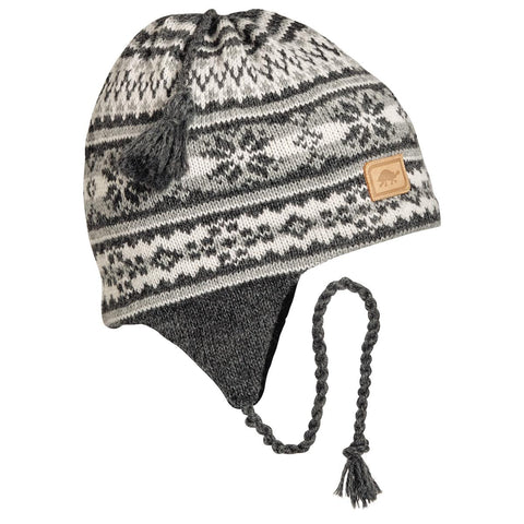 Nighthorse Earflap Hat / Color-Charcoal Heather