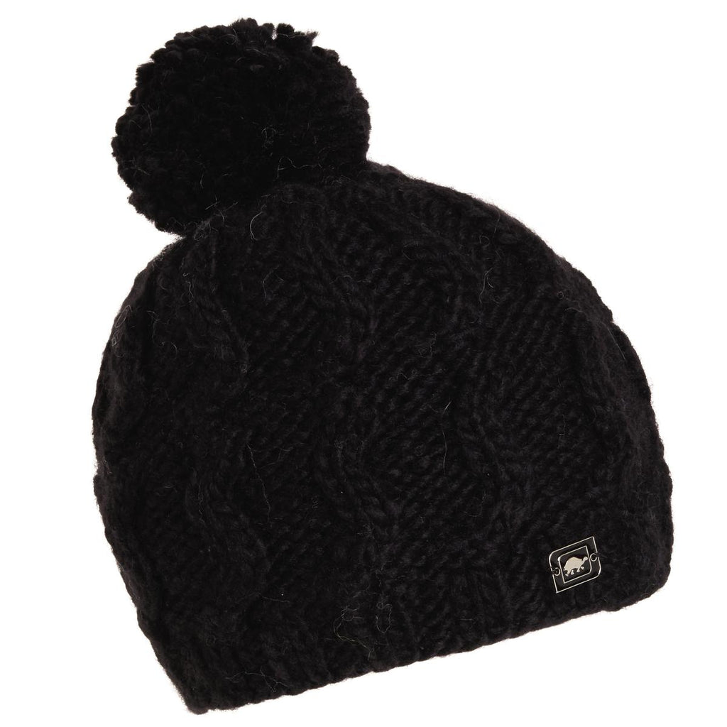 Puli Hand Knit Beanie / Color-Black