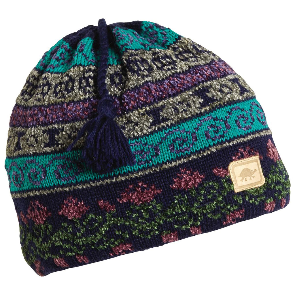 Lady Fairisle Tassel Beanie / Color-Navy