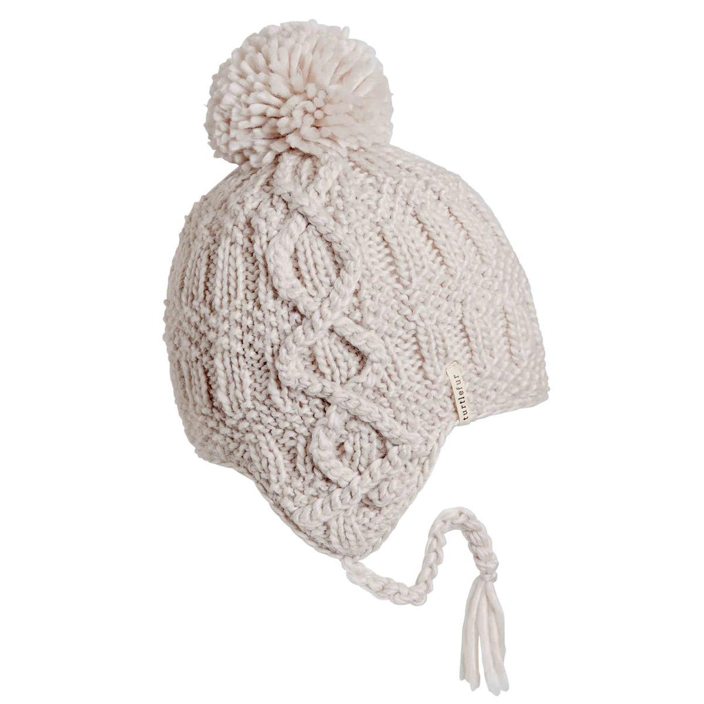 Gianna Pom Earflap / Color-Natural