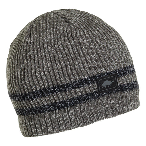 Mr. Happy Knit Beanie / Color-Charcoal