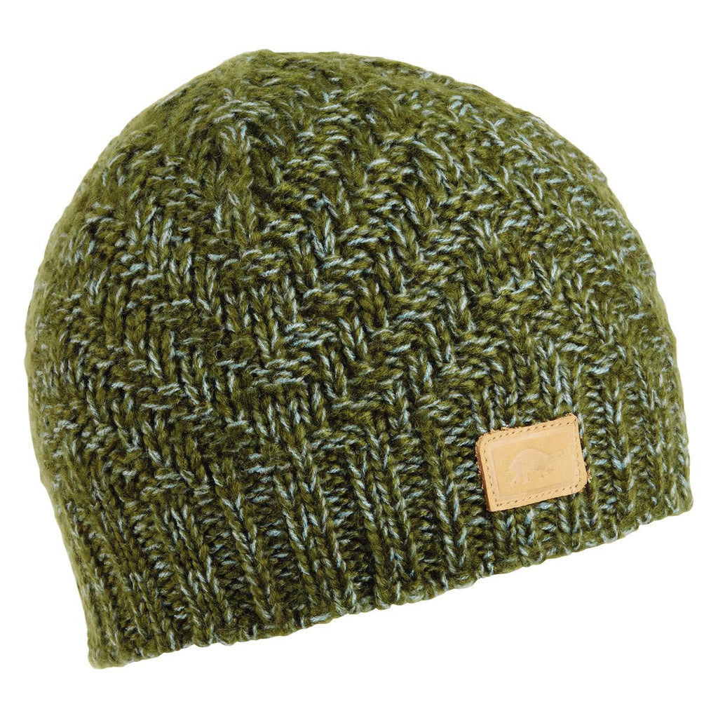 Pyramid Steps Knit Beanie / Color-Moss